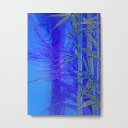 Bamboo abstract Metal Print
