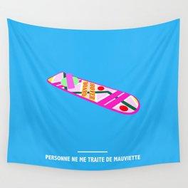 PERSONNE NE ME TRAITE DE MAUVIETTE ( Back to the Future ) Wall Tapestry