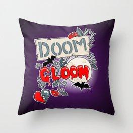 Doom & Gloom Throw Pillow