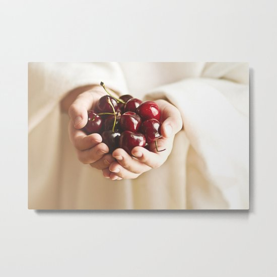 """One must ask children and birds how cherries and strawberries taste."" --Johann Wolfgang von Goethe  Metal Print"