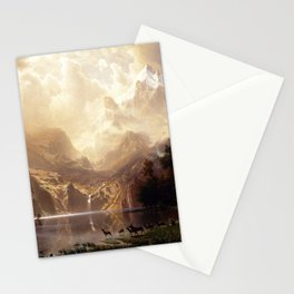 Albert Bierstadt - Among the Sierra Nevada, California Stationery Cards