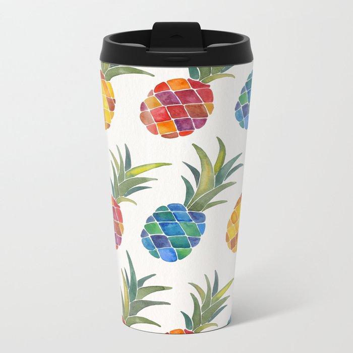 Pineapples Metal Travel Mug