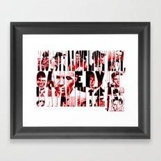 Sinatra Says... Framed Art Print