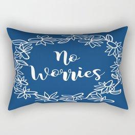 No Worries Rectangular Pillow