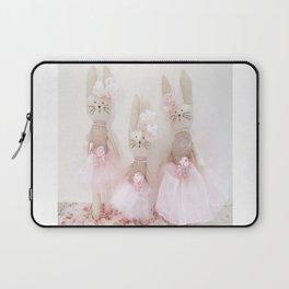Bunnies Pretty in Pink Laptop Sleeve