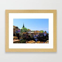 Cerro Conception, Valparaiso, Chile Framed Art Print