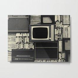 Retro Tech Metal Print