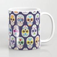 dia de los muertos Mugs featuring Dia de los muertos by ewdondoxja