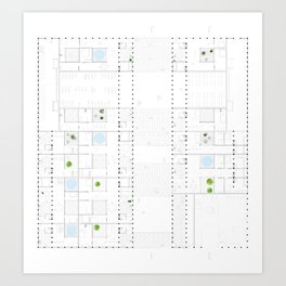 Architecture Plan Art Print