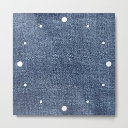 Blue Denim Metal Print