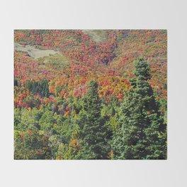 Mountain On Fire Throw Blanket
