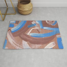 Falling Water Abstract Rug