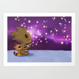 Nighty-night, Rocket! Art Print