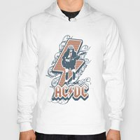 acdc Hoodies featuring acdc angus young by aceofspades81