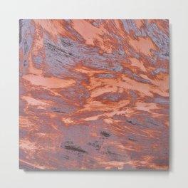 Rusty metal texture Metal Print