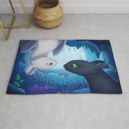"How To Train Your Dragon (Hidden World) Fan-art ""Hidden Beauty"" Rug"