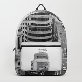 Gran Via in Madrid Backpack