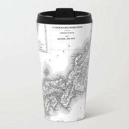 Vintage Map of Japan (1855) BW Travel Mug
