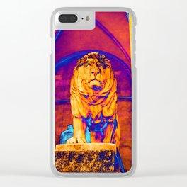 Lion - The Feldherrnhalle (Field Marshals' Hall) - Munich Clear iPhone Case