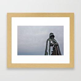 King Arthur Statue - Tintagel Castle - England Framed Art Print