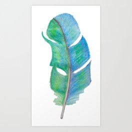 Bright Feather Art Print