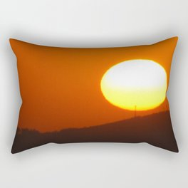 .away from the sun. Rectangular Pillow