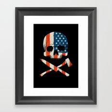 American P$yscho Framed Art Print