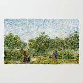 Vincent Van Gogh - Garden in Montmatre with Lovers Rug
