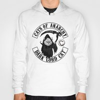 sons of anarchy Hoodies featuring Cats of Anarchy by Dark Lord Pug