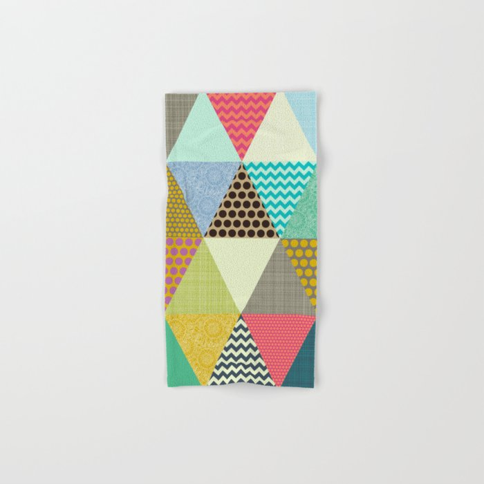 New York Beauty triangles Hand & Bath Towel