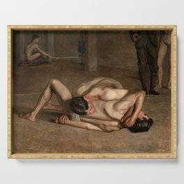 Wrestlers by Thomas Eakins, 1899 Serving Tray