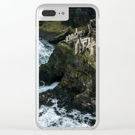 Castle ruin by the irish sea - Landscape Photography Clear iPhone Case