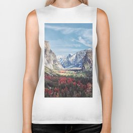 Tunnel View Yosemite Valley Biker Tank