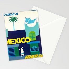 retro Plakat iberia vuele a mexico lineas aereas Stationery Cards