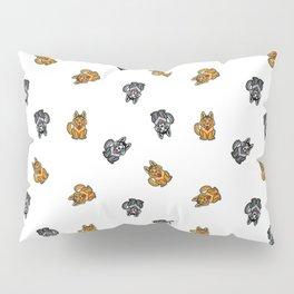 Yellow & Gray Dog Pillow Sham