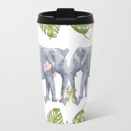 Soulmates - Elephant Ilustration - Bagaceous Travel Mug