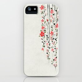 Japanes Floral Wild Forest iPhone Case
