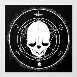 Vampire Bat Skull Transmutation Canvas Print