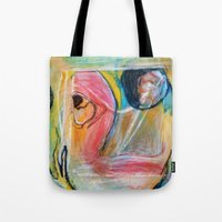 beth hoeckel Tote Bags featuring Goonie by Beth Ann Short by Beth Ann Short