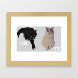 Scout and Otis Framed Art Print