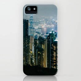 Hong Kong Night Panorama iPhone Case