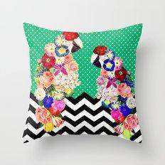 Tropical Parrot Throw Pillow