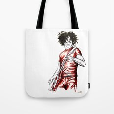 Jack White Red Watercolor Tote Bag