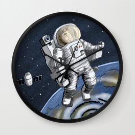 A is for Astronaut Wall Clock