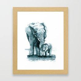 My Little Peanut (Elephants) Framed Art Print