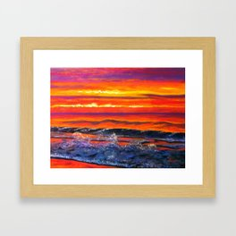 JONES BEACH AT SUNRISE Framed Art Print