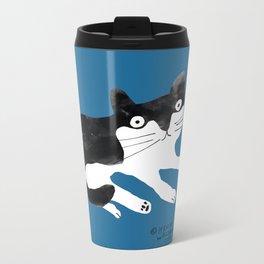 wilbur the cat Metal Travel Mug