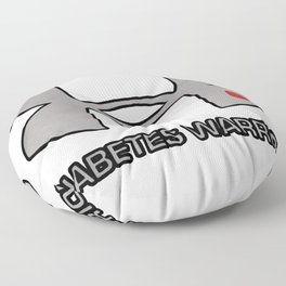 Diabetes Warrior Floor Pillow