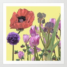 Floral fantasies Art Print