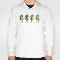 ninja turtles Hoodies featuring Teenage Mutant Ninja Turtles by Glimy